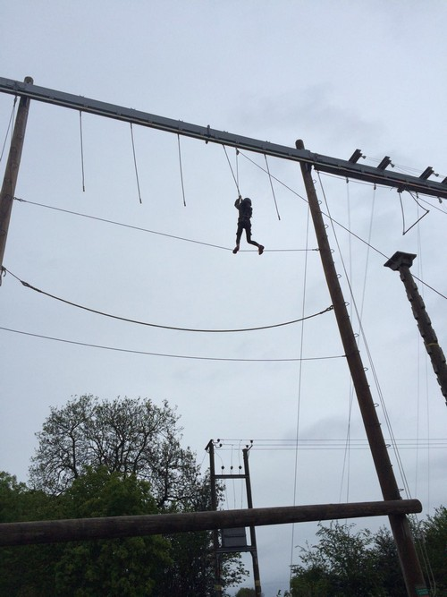 Wow brave Alimah on the high ropes